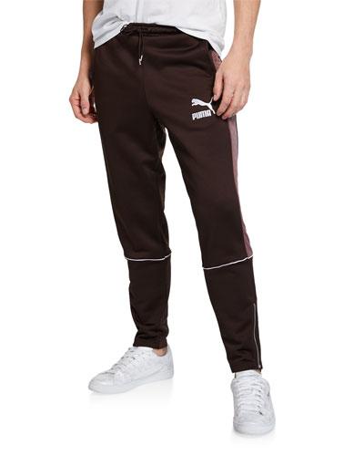 Men's Retro Quilted Side-Stripe Sweatpants