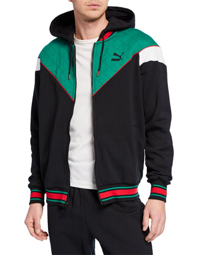 Men's Lux Colorblock Hooded Track Jacket
