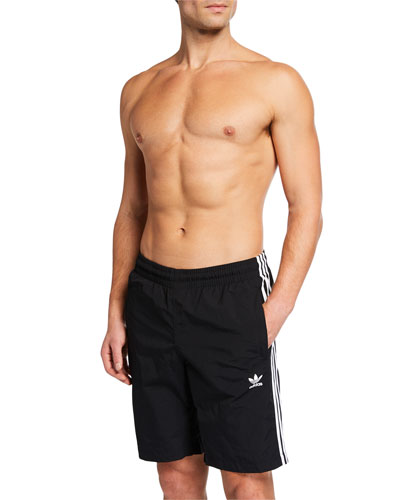 Men's Three-Stripe Swim Trunks