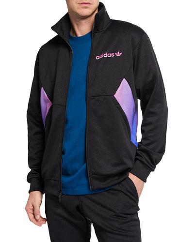 Men's Colorblock Degrade Zip-Front Track Jacket