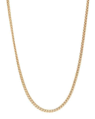 Men's Classic Chain 18K Gold Slim Necklace  24L