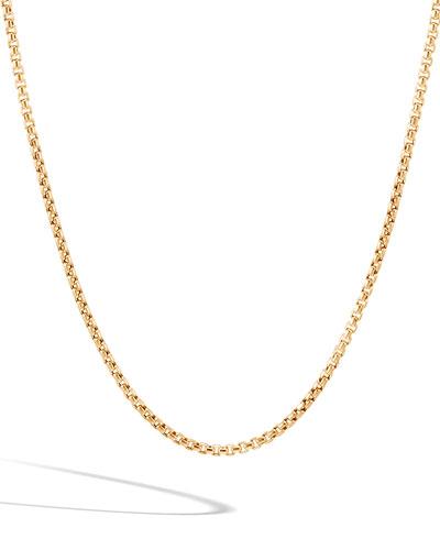 Men's Classic Chain 18k Gold Box Chain Necklace  22