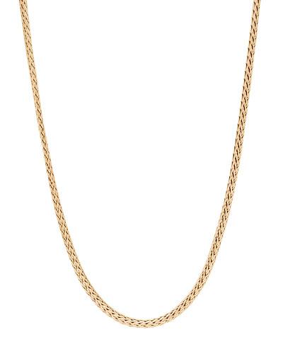 Men's Classic Chain 18k Gold Mini Woven Necklace  22L
