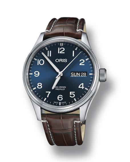Oris Men's 45mm Big Crown Propilot Day-Date Watch,