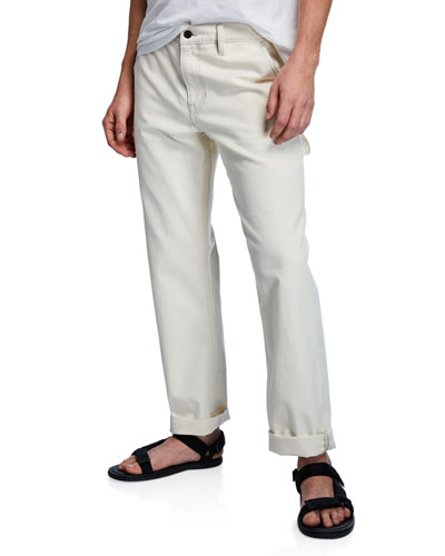 Men's Solid Carpenter Pants