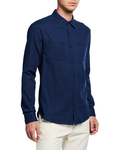 Vince Men's Washed Chambray Sport Shirt