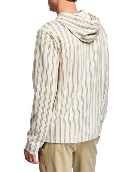 Vince Men's Striped Half-Zip Hoodie