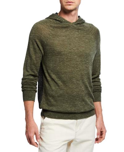 Men's Wool/Linen Pullover Hoodie