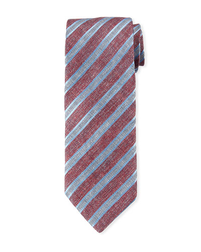 Men's Striped Linen/Cotton Tie