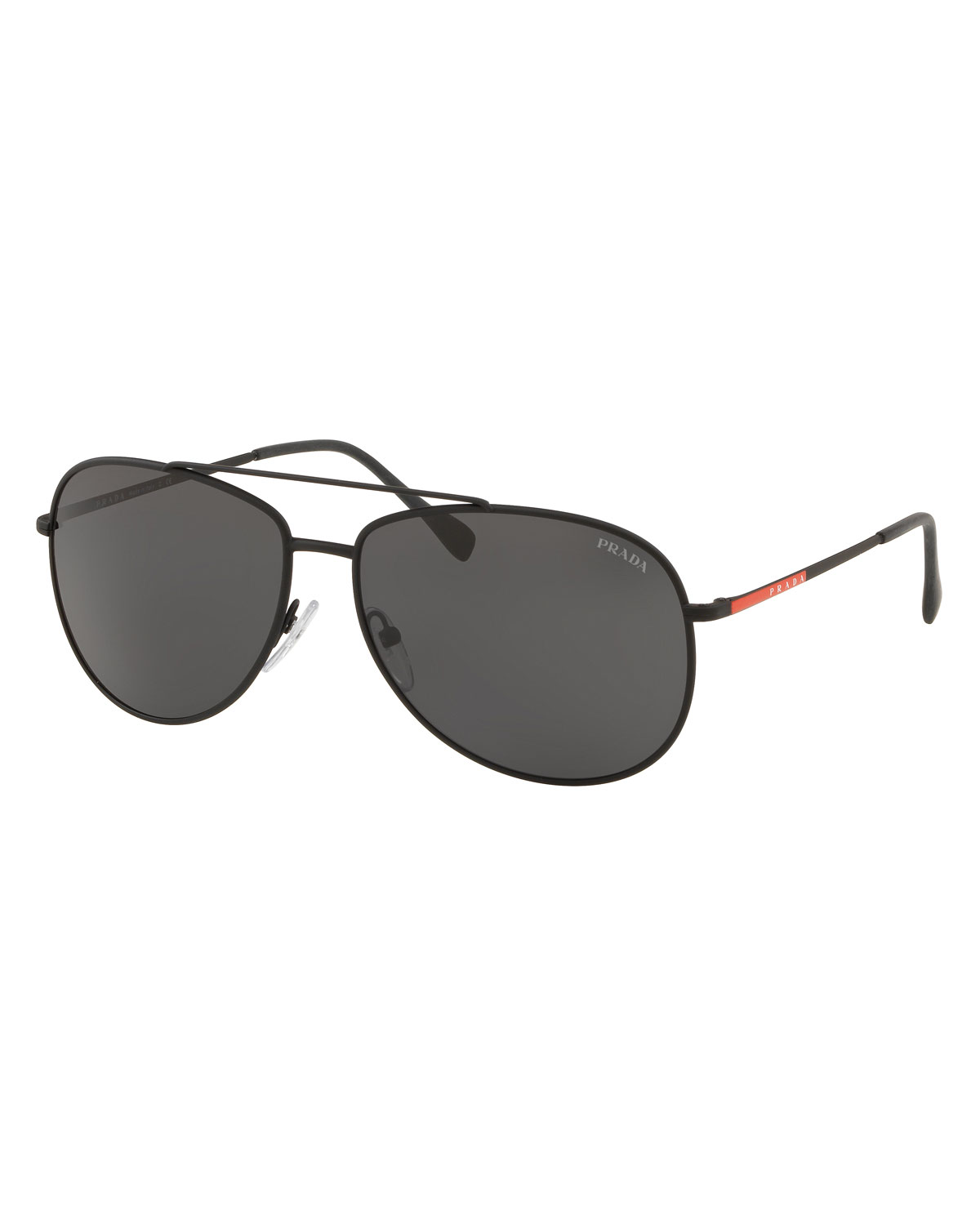 d885bdf2b4b0 Prada Men s Metal Aviator Sunglasses