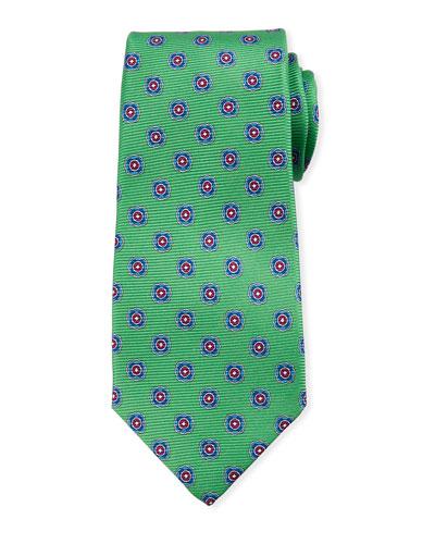 Round Medallion Silk Tie
