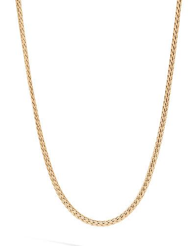 Men's Classic Chain 18k Gold Mini Necklace  2.5mm