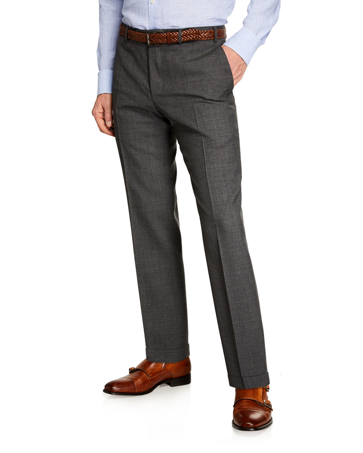 Canali Men's Melange Dress Trousers