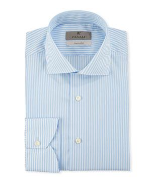 76d9de38db2 Canali Men s Impeccabile Bengal Stripe Dress Shirt