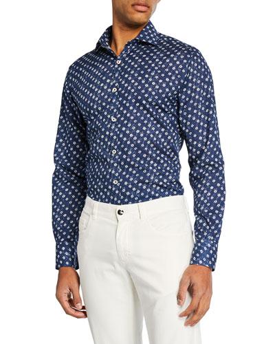 Men's Cotton Batik Sport Shirt