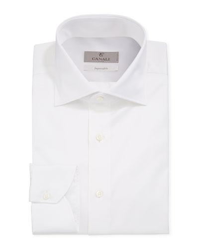 Men's Impeccabile Basic Twill Dress Shirt  White