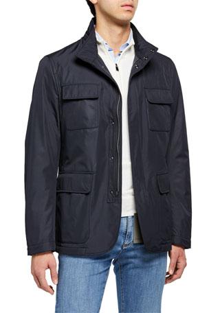 Zephyr Brown Men/'s Smart Cross Zip Designer Lambskin Leather Blazer Shirt Jacket