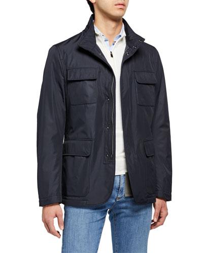 Men's Microfiber Blazer-Style Jacket