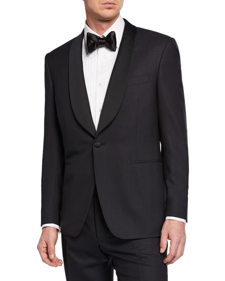 Canali Coats MEN'S TWO-PIECE TUXEDO WITH SHAWL COLLAR