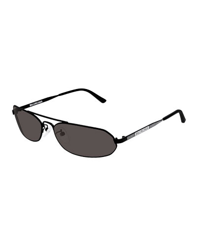 Men's Metal Rectangular Sunglasses