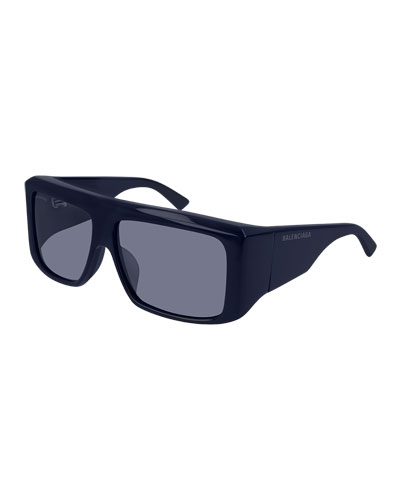 Men's Flat-Top Acetate Sunglasses
