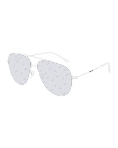 Men's Unisex Metal Aviator Sunglasses