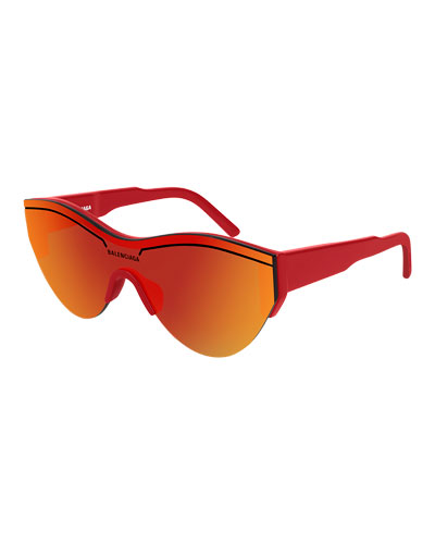 Men's Half-Rimmed Acetate Sunglasses