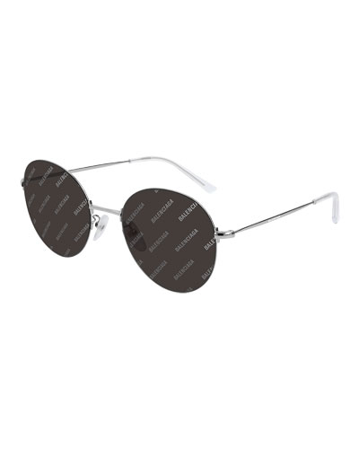 Men's Round Unisex Metal Sunglasses