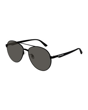 e2f69e4fd77 Balenciaga Men s Aviator Metal Unisex Sunglasses