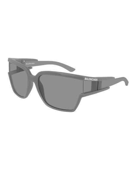 Balenciaga Men's Square Unisex Injection Sunglasses