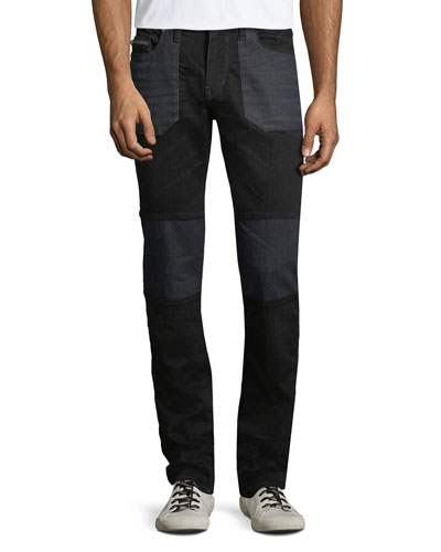 Men's Rocco Moto Dark Neutron Denim Jeans