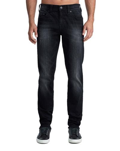 Men's Geno Five-Pocket Straight-Leg Jeans in Midnight Starfall