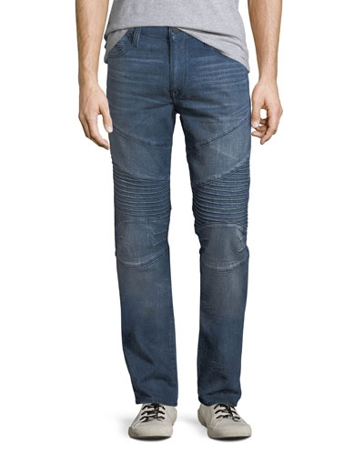 Men's Rocco Moto Worn High Frequency Denim Jeans
