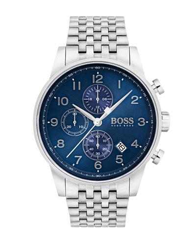 Men's Navigator Chronograph Bracelet Watch