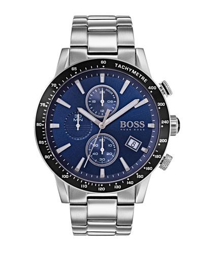 Men's Rafale Chronograph Bracelet Watch, Blue