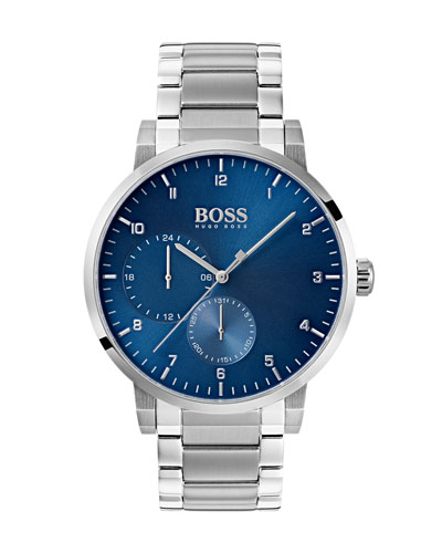 Men's Oxygen Analog Bracelet Watch, Blue