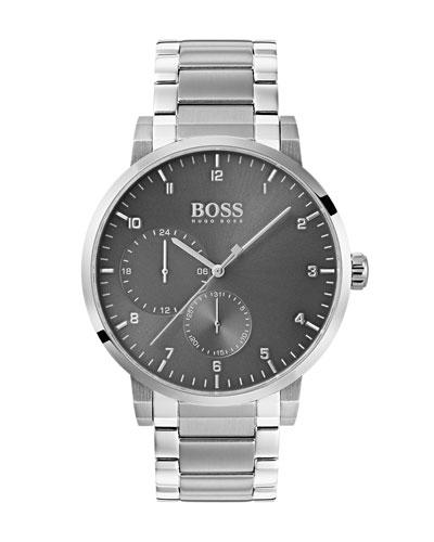 Men's Oxygen Analog Bracelet Watch, Gray