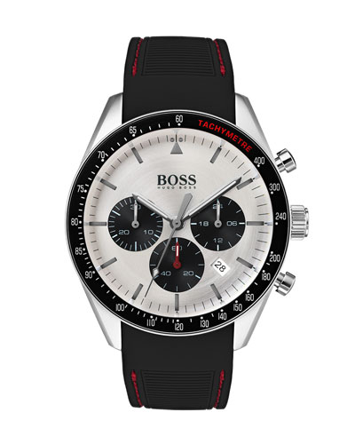 Men's Trophy Chronograph Watch with Silicone Strap