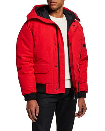 Men's Chilliwack Down Bomber Jacket w/ Fur Hood - Fusion Fit