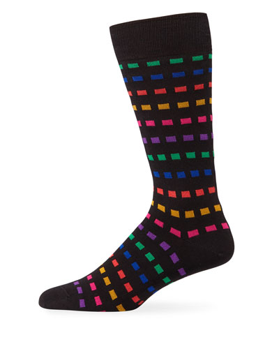 Men's Multi Grid Socks