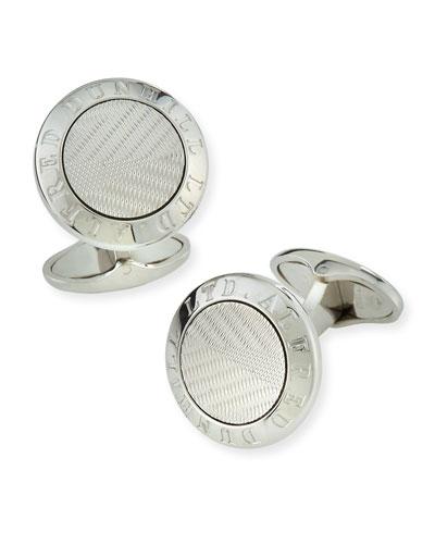 Men's AD Coin Silver Cufflinks