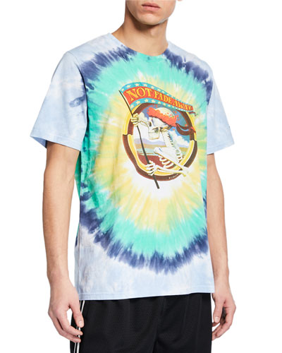 Men's Skull-Graphic Tie-Dye T-Shirt
