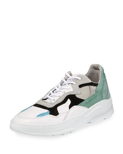 Men's Infinity Leather/Suede Low-Top Sneakers