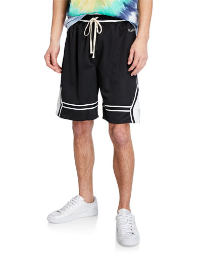 Men's Contrast-Trim Basketball Shorts