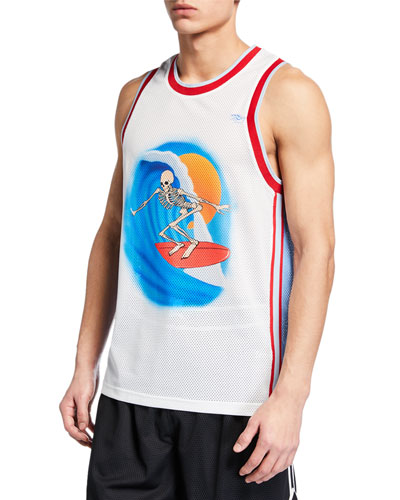 Men's x Stanley Mouse Skeleton Surfer Basketball Tank Top