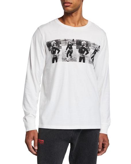 Ovadia & Sons Men's Bob Marley Playing Soccer Long-Sleeve T-Shirt