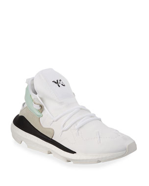 buy online 23223 bf0ec Y-3 Mens Kusari II Neoprene Trainer Sneakers