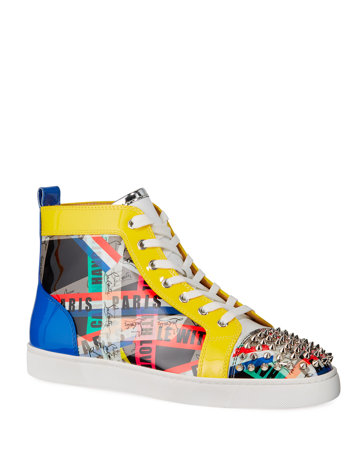 the best attitude 9ad70 3b198 Men's Lou Spikes LoubiBallage High-Top Sneakers with Spikes