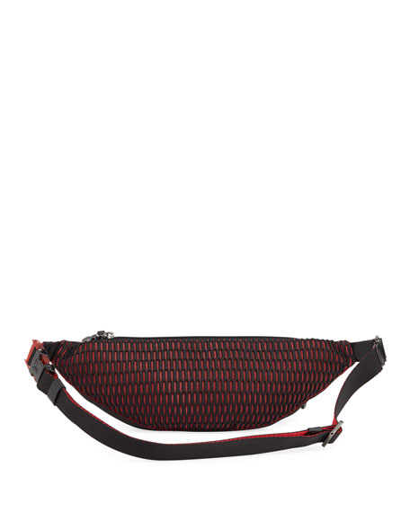 Christian Louboutin Men's Paris NYC Spike Belt Bag/Fanny Pack