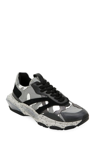 Valentino Garavani Men's Bounce Camo Runner Sneakers